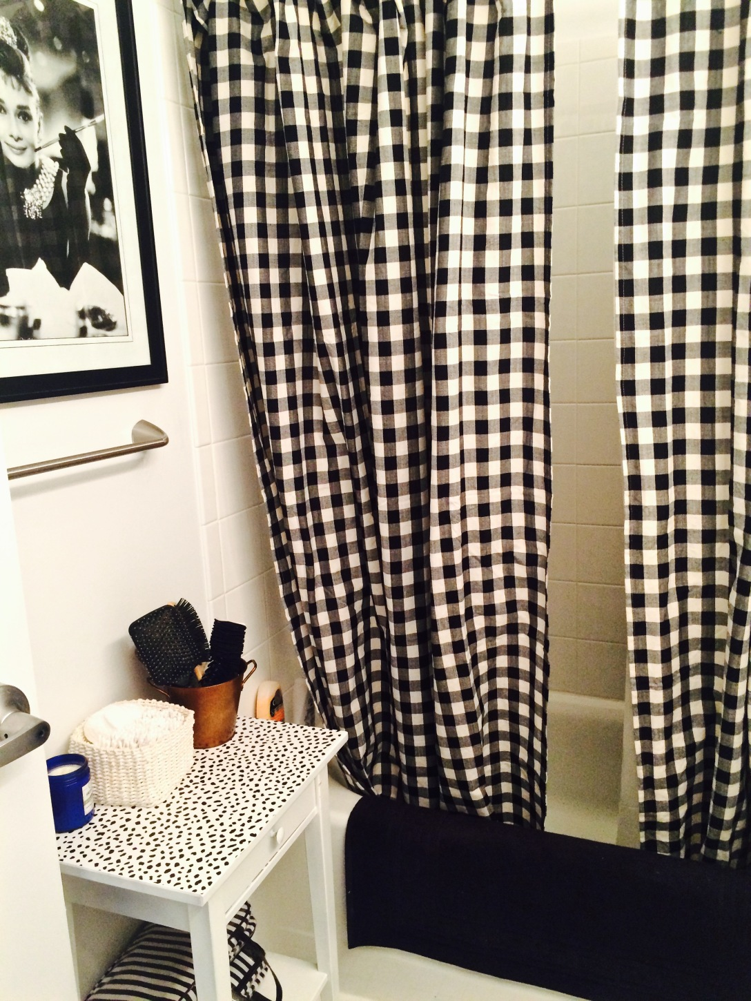 Because two shower curtains are ALWAYS better than one.